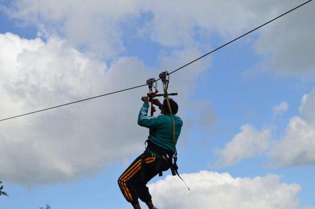 ziplining at Ngong Hills