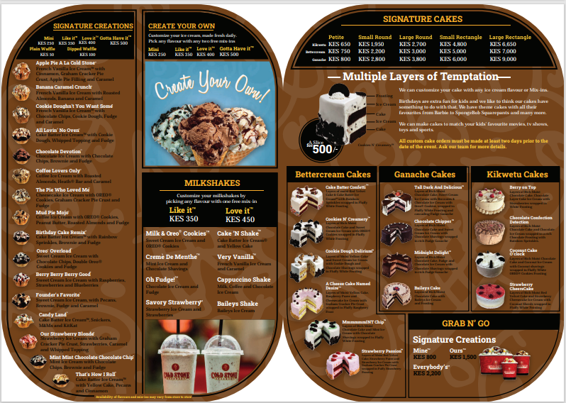 Where to have the best ice cream in Nairobi  Cold stone Creamery