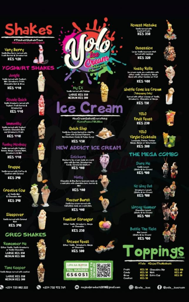 Where to get the best ice cream in Nairobi  Yolo Ice Cream